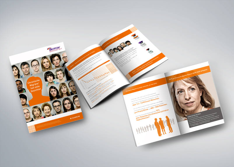 Brochure for Allergan for the patient discussion and patient communication by 3We communication & marketing gmbh