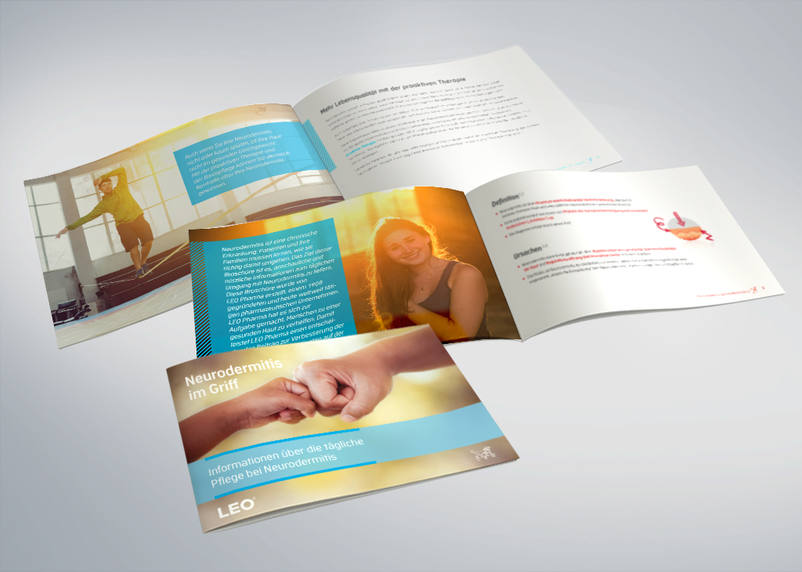 Patient brochure for better patient communication for LEO Pharma GmbH: design and project implementation by the advertising agency 3We