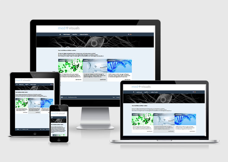 Responsive Website Medvisuals 2