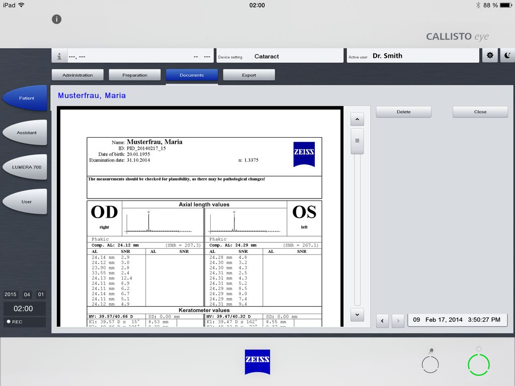 ZEISS Callistool App Screenshot 5